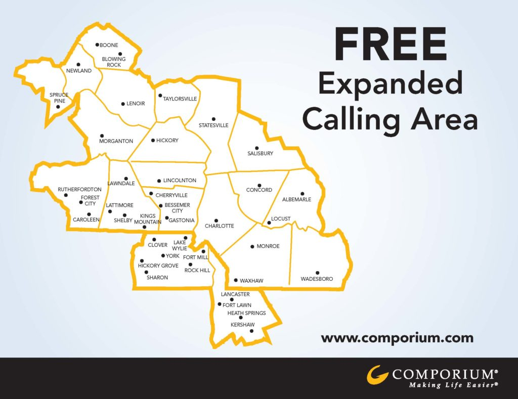 Free expanded calling area