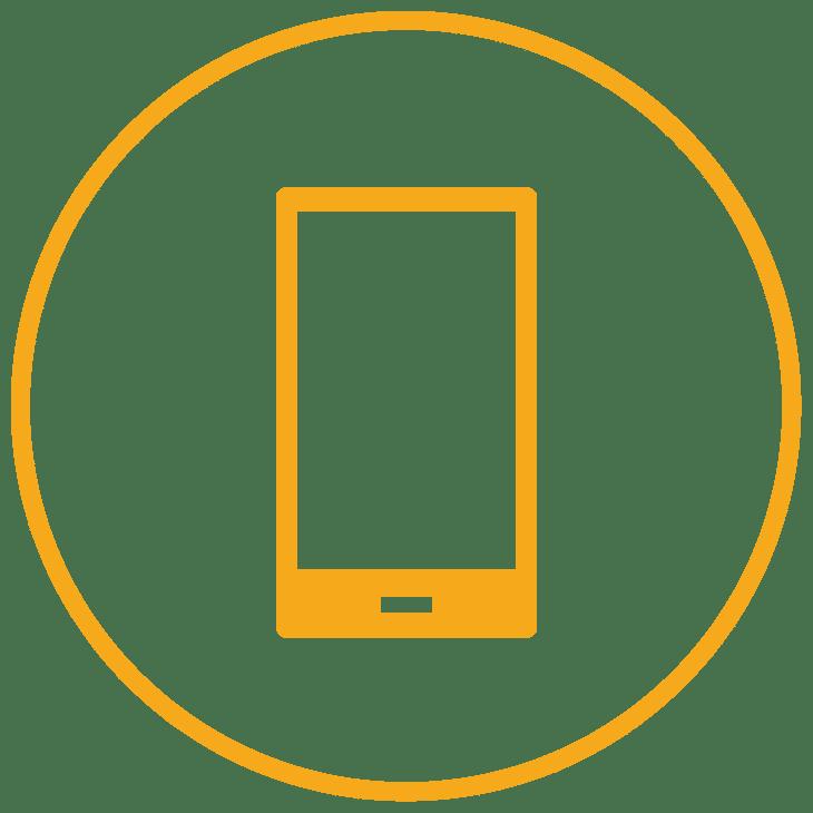 phone inside a circle