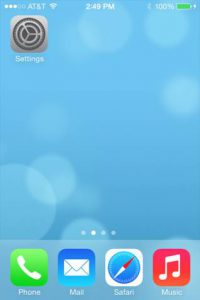 IOs main screen