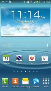 Android phone screen desktop