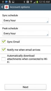 Sync email