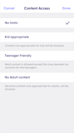 Content and Parental Controls Second step